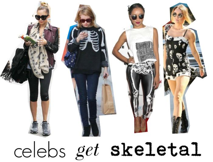 celebs skeletal trend