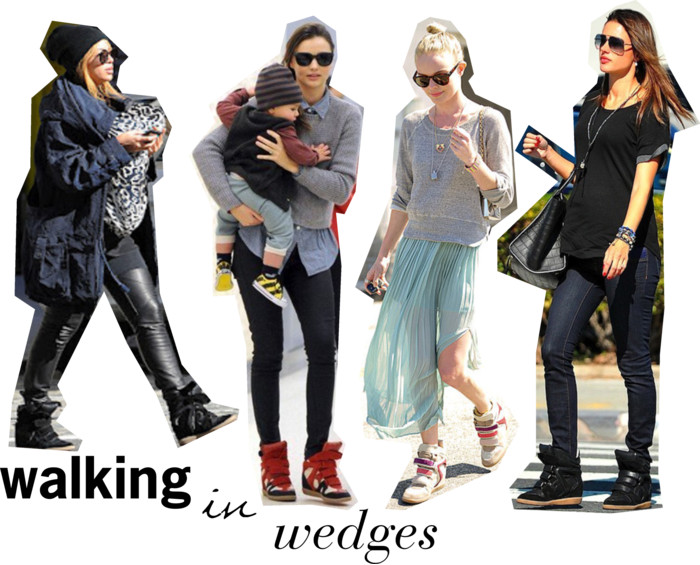 celebs love wedge sneakers