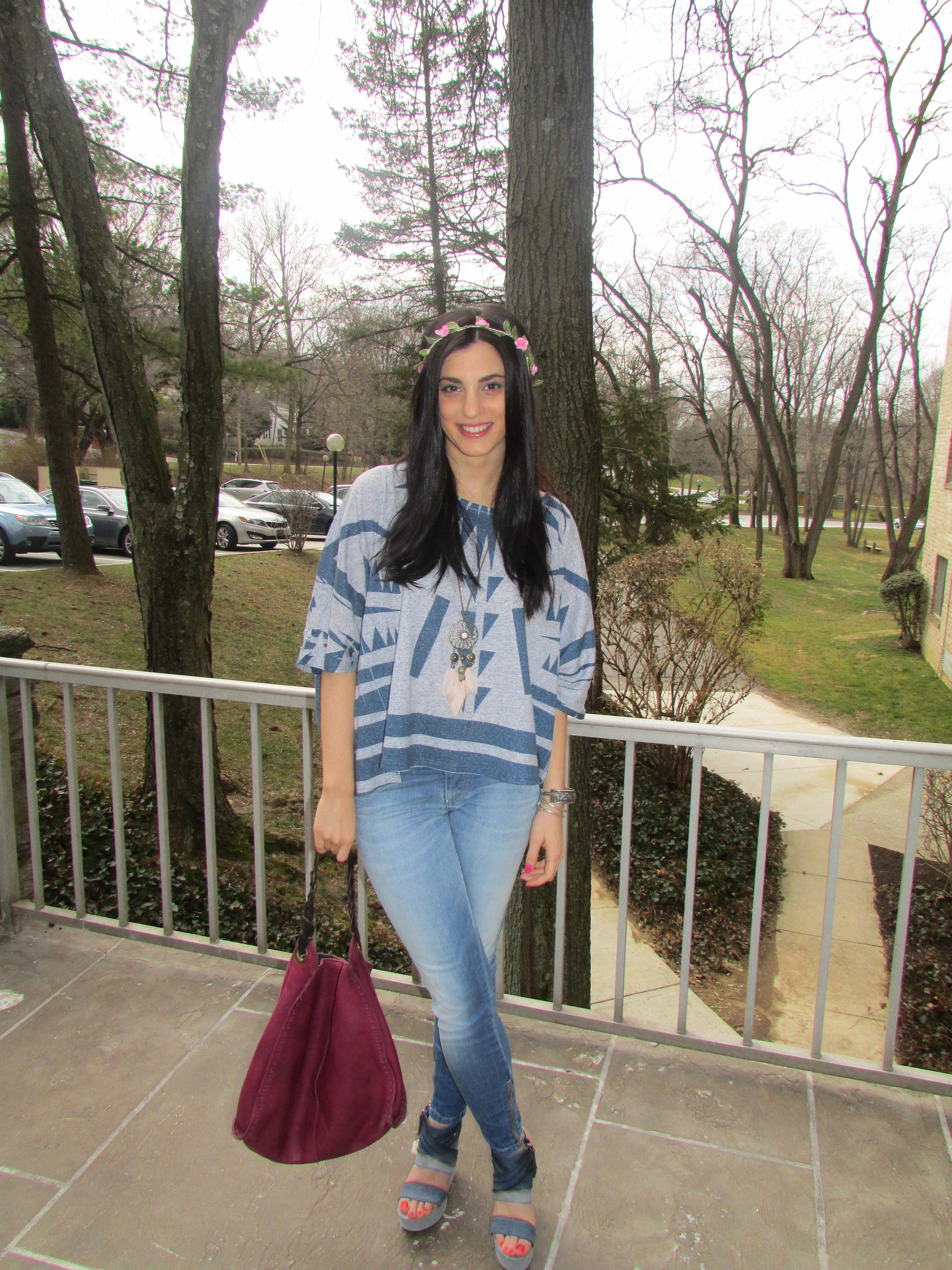 Jessie Holeva of @trendhungryblog in @dieselusa denim #dieselkop