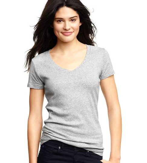 what to pack for coachella: Favorite short-sleeve V-neck T from gap