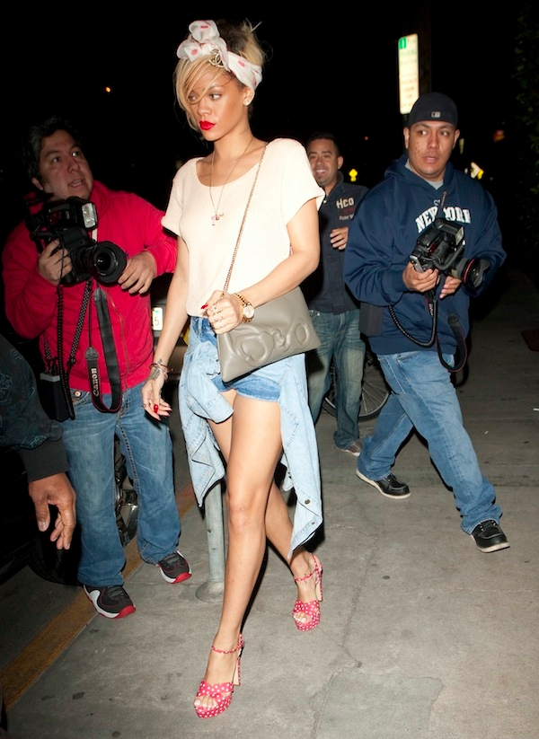 Rihanna was seen leaving Giorgio Baldi Restaurant in Malibu, CA