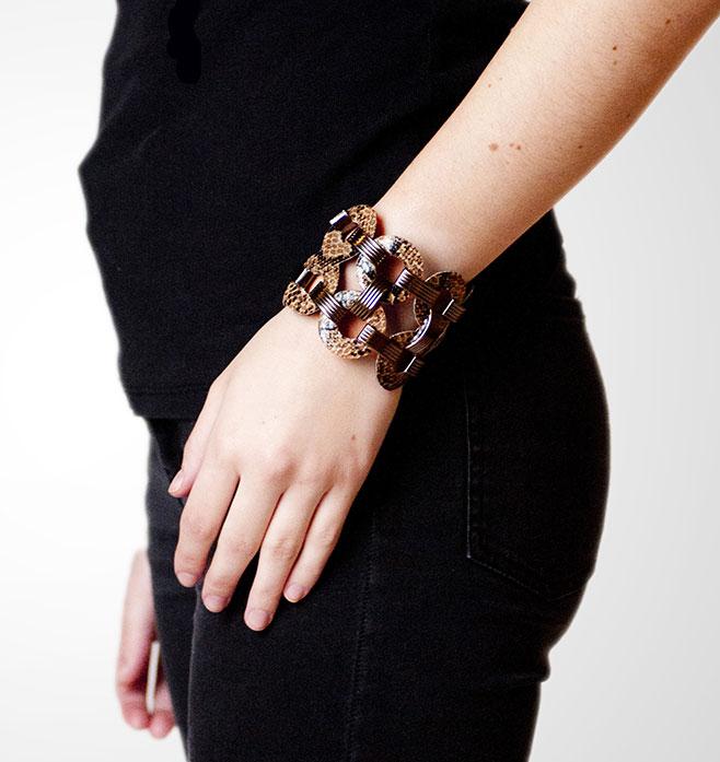 Habsa Leather Link Bracelet