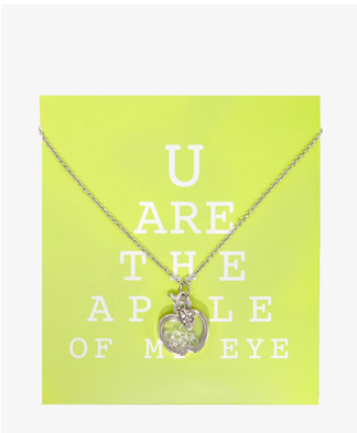 See- Through Apple Necklace Forever 21