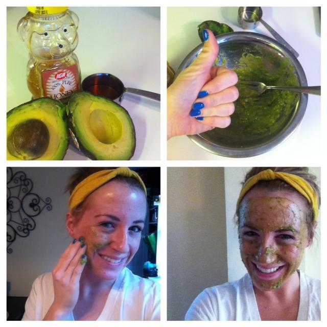 go green: avocado face mask