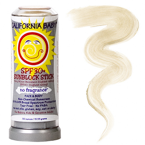 SPF 30+ Sunblock Stick Super Sensitive - Fragrance Free (0.5oz.) by California Baby