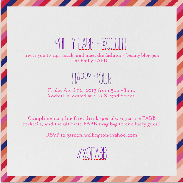Philly Fashion Bloggers Happy Hour event (PhillyFABB)
