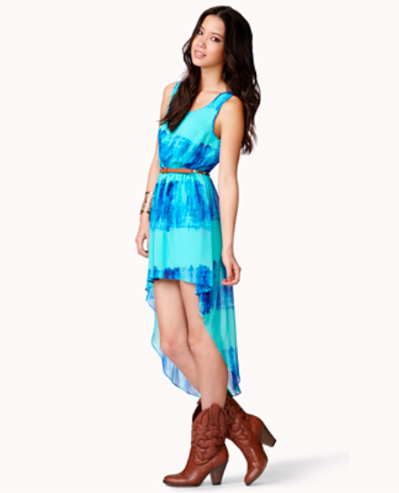 high-low dress, forever 21