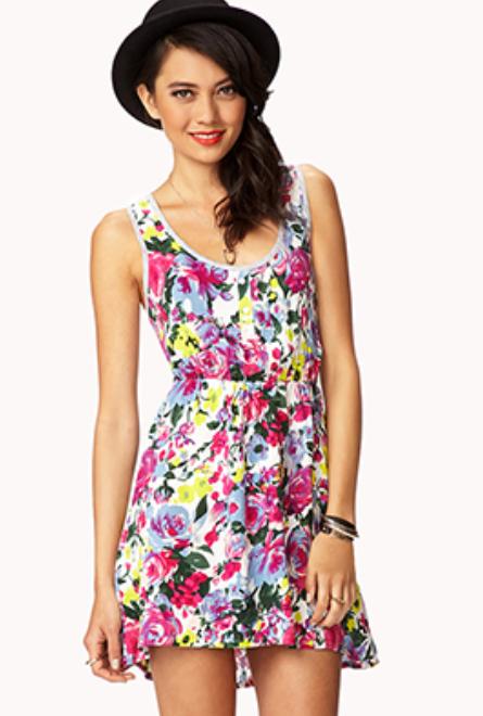 floral dress under $15 forever 21