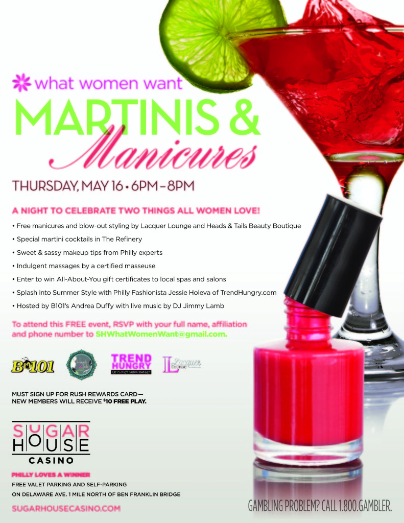 SugarHouse Martinis & Manicures Invite