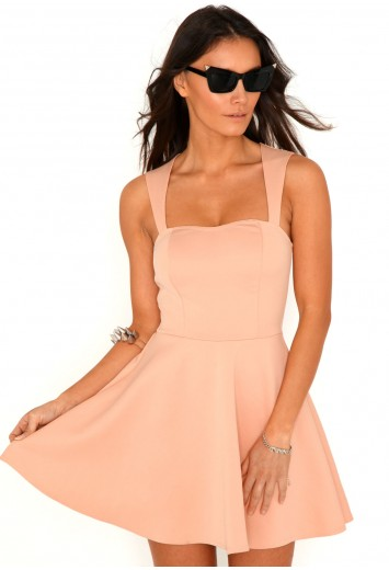 nude dress with cutouts