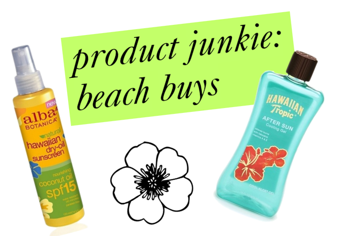 beauty products for the beach