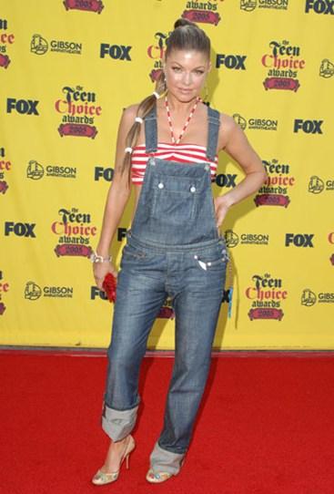 fergie in overalls