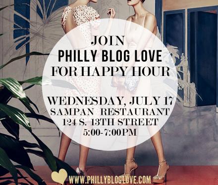 philadelphia fashion bloggers happy hour