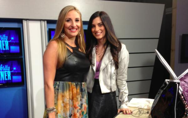On-air style expert Jessie Holeva on TV with Dorothy Cascerceri