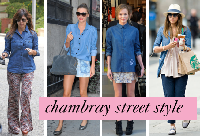 celebrity trend: chambray