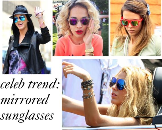 celebrtiy trend: mirrored sunglasses