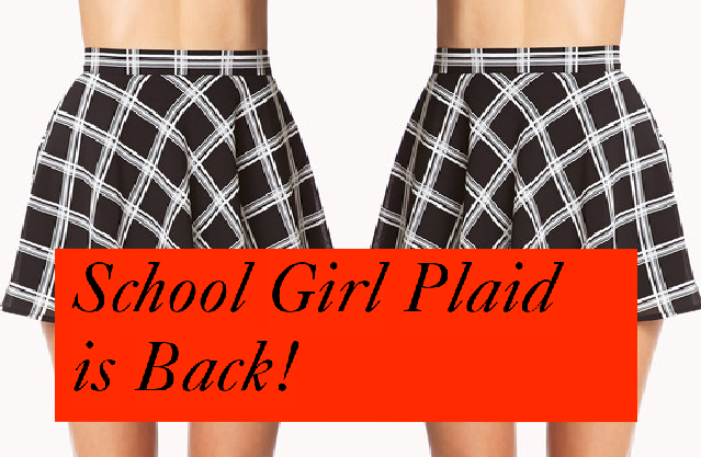 school girl plaid
