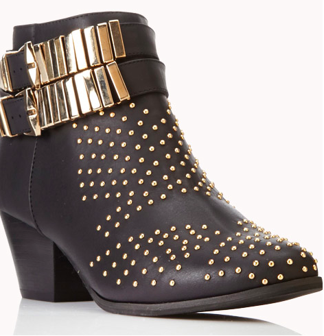black-and-gold-booties