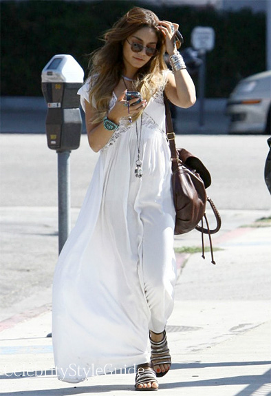 Vanessa-Hudgens-wore-the-Blessed-are-the-Meek-San-Jose-Maxi-dress