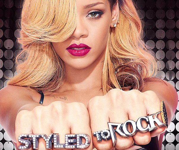 rihanna, styled to rock