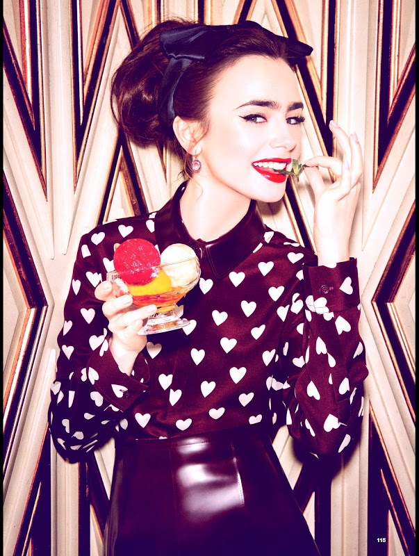 Lily Collins - covers Glamour magazine July 2013 Issue
