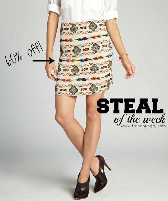 Steal of the Week_Matty M_Embroidered Skirt_Spring_Summer_Tribal Print