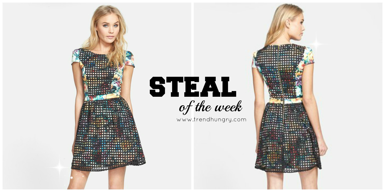 Steal of the week_Nordstrom_Mesh_Bold_Floral Dress_Spring