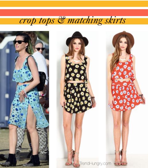 crop tops & skirts