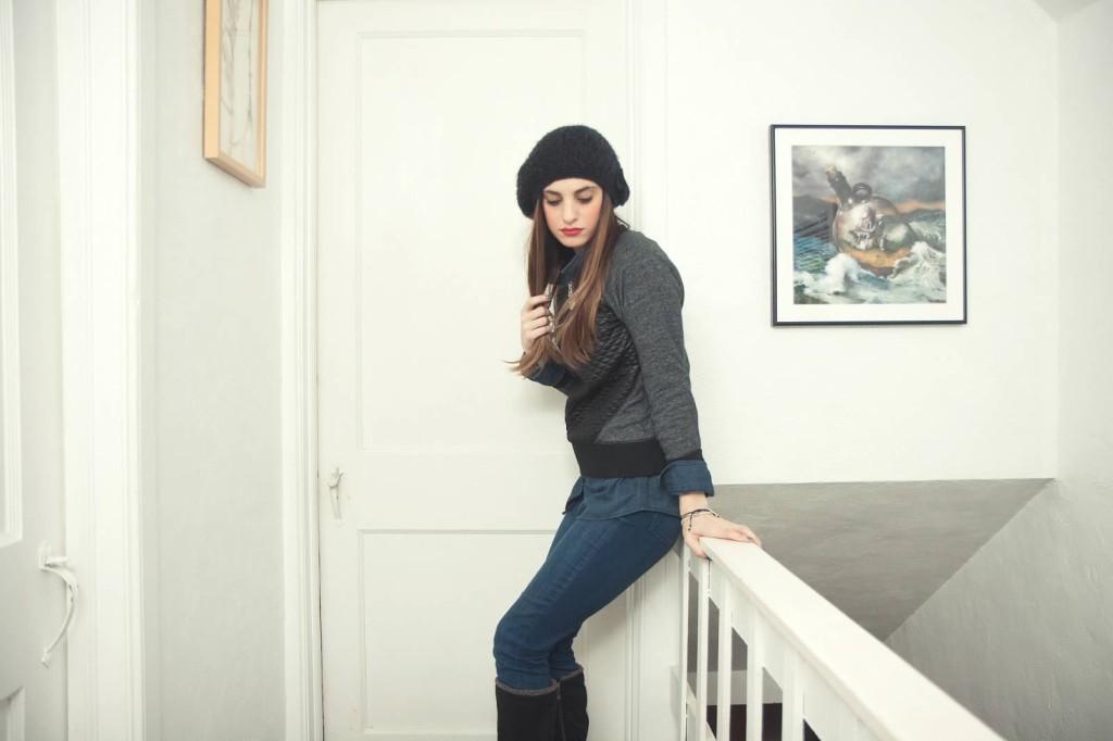 black and blue fashion