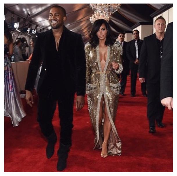 Kim-Kardashian-West- Grammy-Fashion