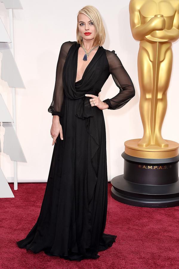 Margot Robbie Oscar Fashion 2015