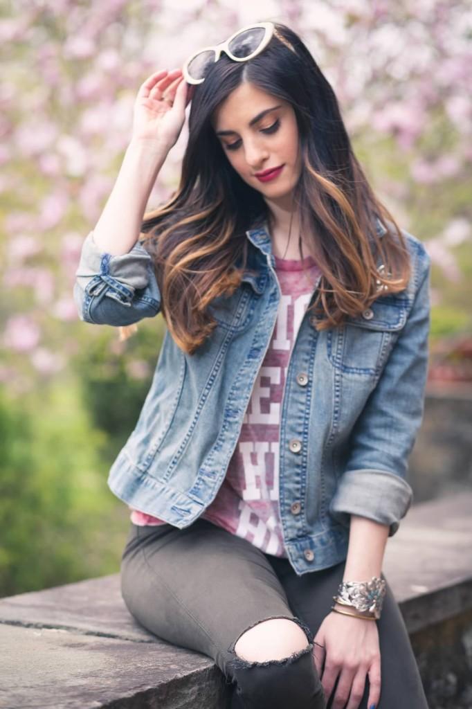 jean jacket style idea