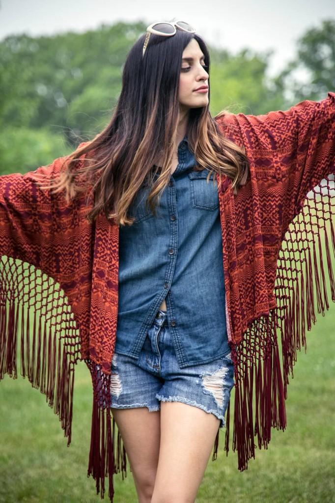 Kimono + Shorts
