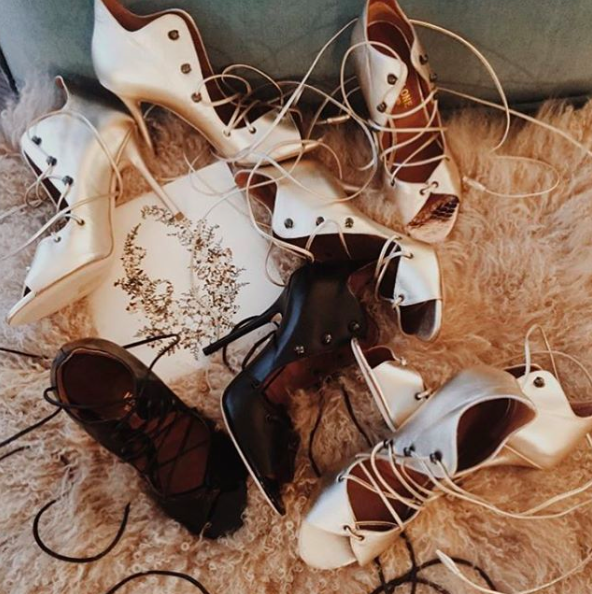 Emma Roberts Lace-Up heels