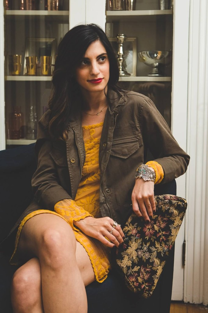 dare to wear - mustard + olive