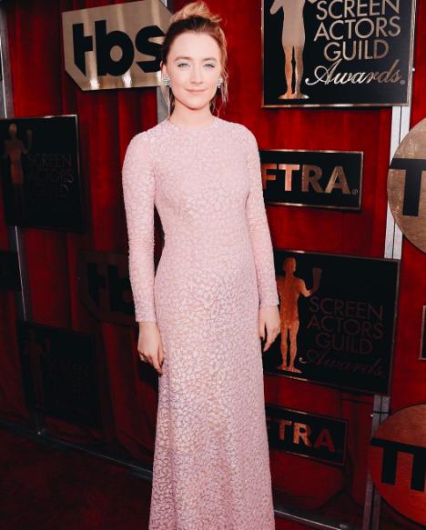 Saoirse Ronan in Michael Kors at 2016 SAG Awards