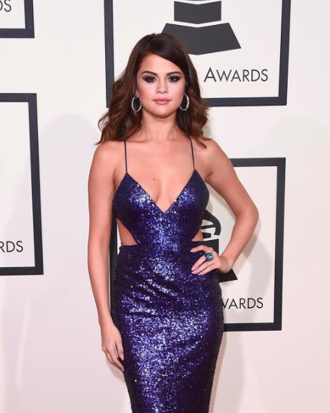 Selena Gomez grammys 2016 style