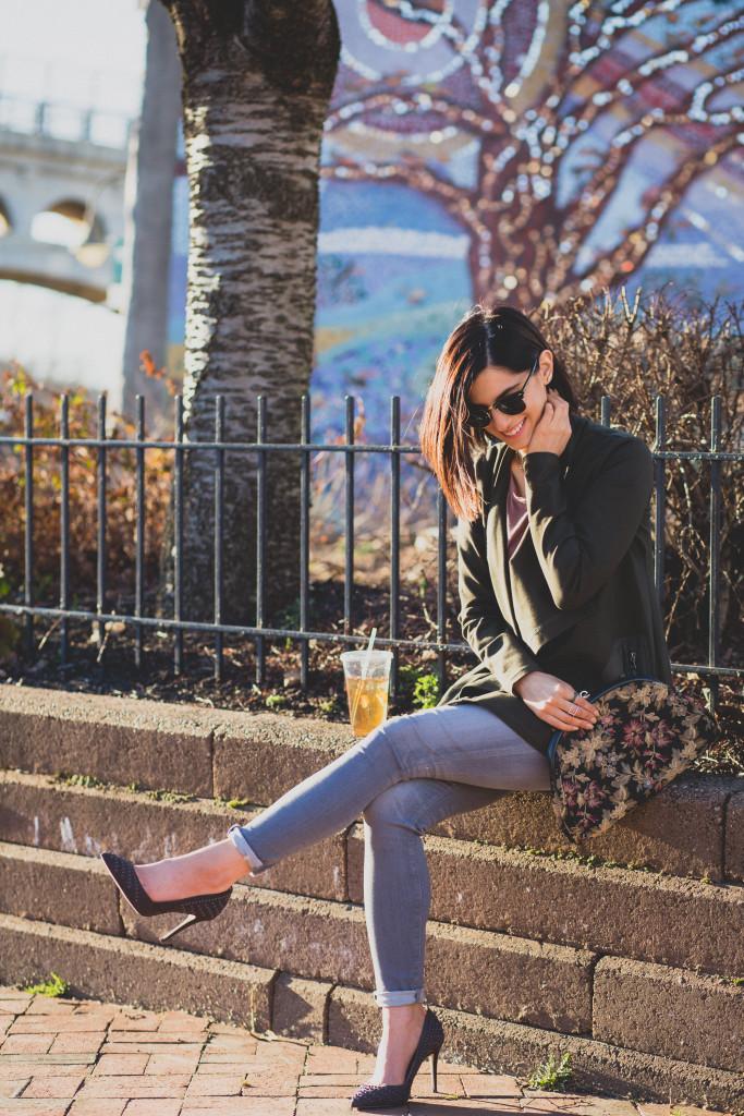 Jessie Holeva wearing LOGO by Lori Goldstein