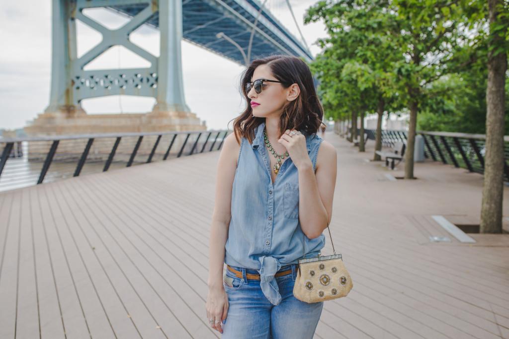 fashion blogger denim outfit inspiration