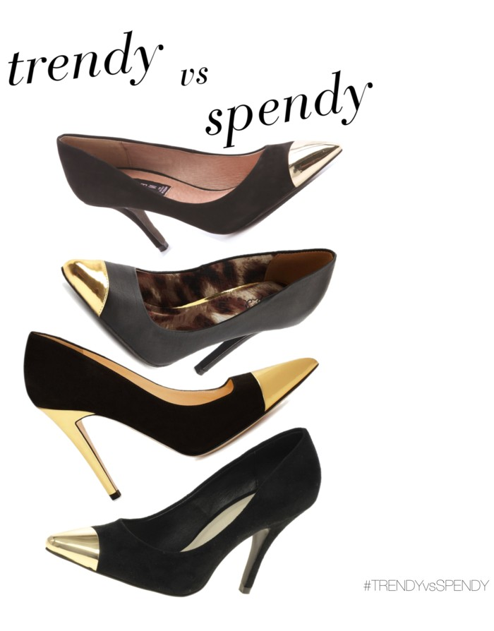 trendy vs spendy: cap toe heels