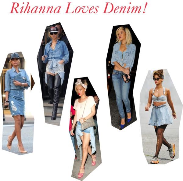 Rihanna Loves Denim