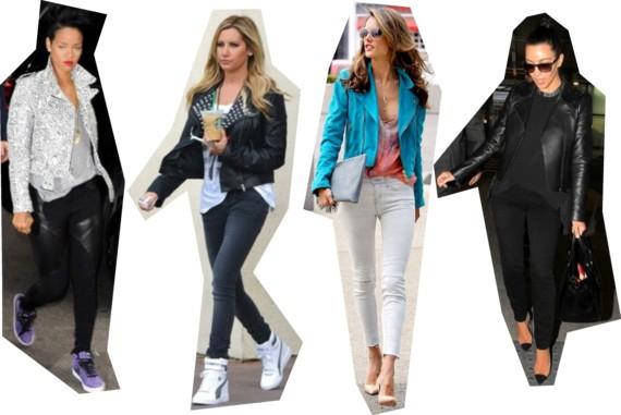 How celebrities wear moto jackets: Rihanna, Blake Lively, Taylor Swift, Kanye & Kim