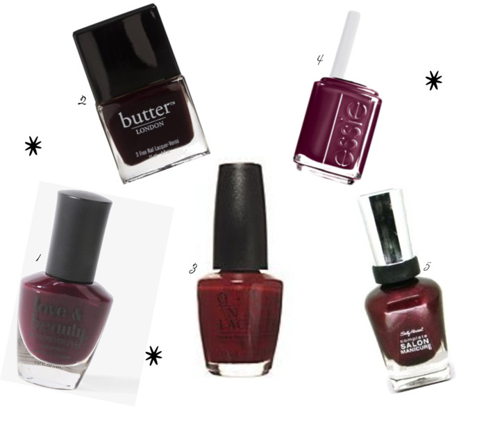 wine inspired nail colors