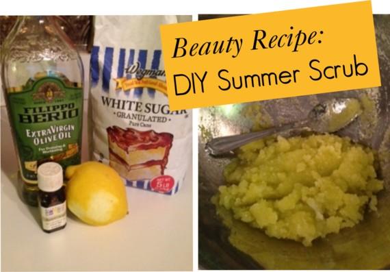 beauty recipe: sugar scrub